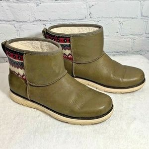 LL Bean Aztec Leather Lined 100g Boots 10